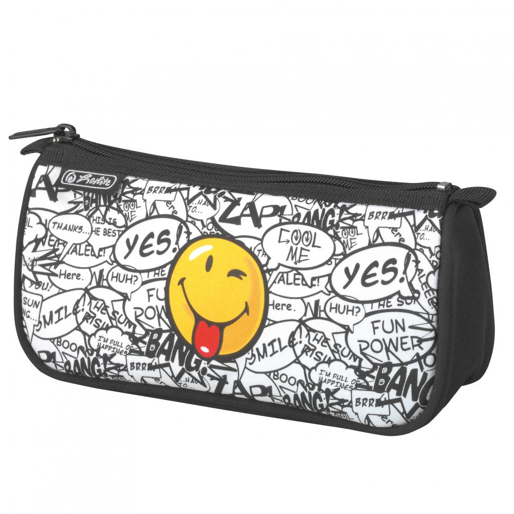Pouch triunghiular Smiley Scribble