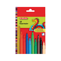 Markere pt copii,10b/set,Herlitz Green