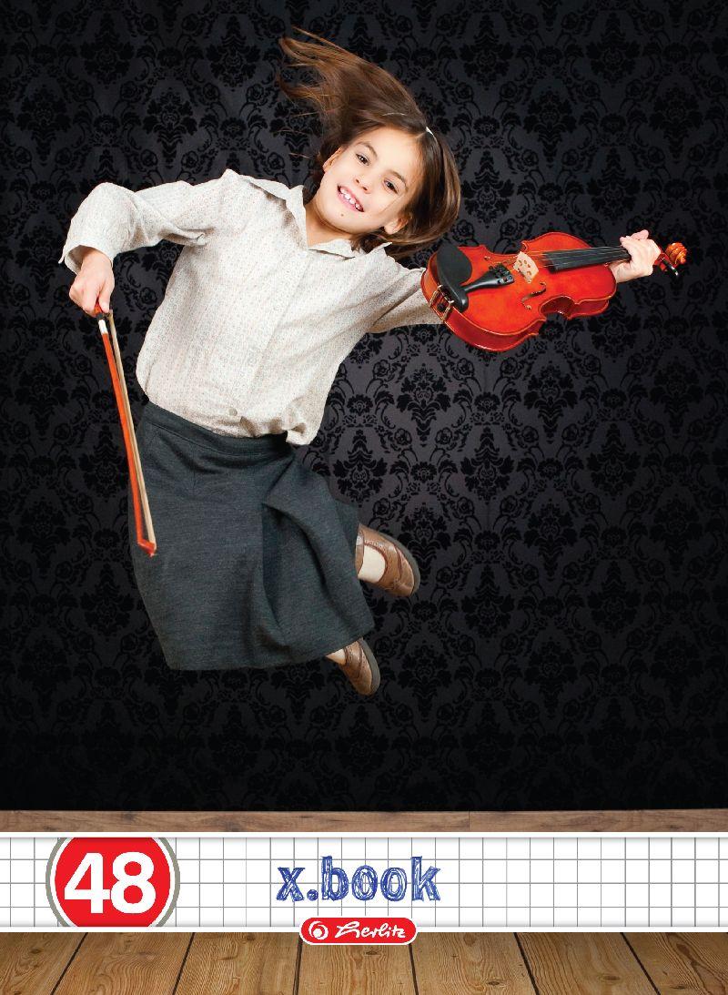 Caiet A5,48file,Rock girl,matematica