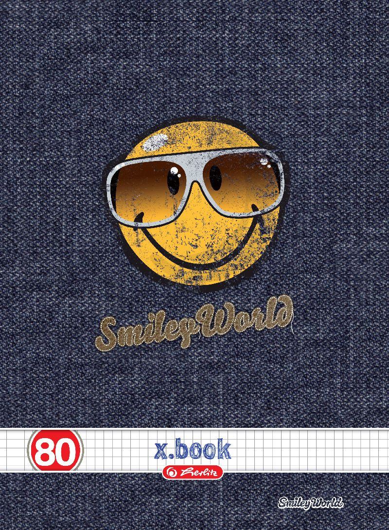 Caiet A4,80file,Smiley,matematica