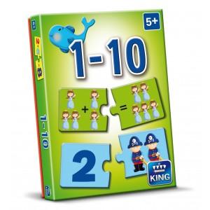 Puzzle joaca-te si invata Numara 1-10