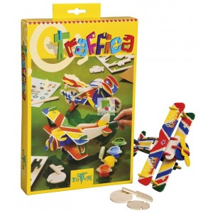 Set creatie puzzle din lemn,avion/motocicleta