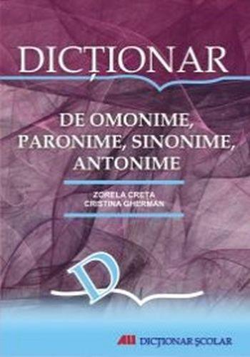 DICTIONAR DE OMONIME, SINONIMEM PARONIME