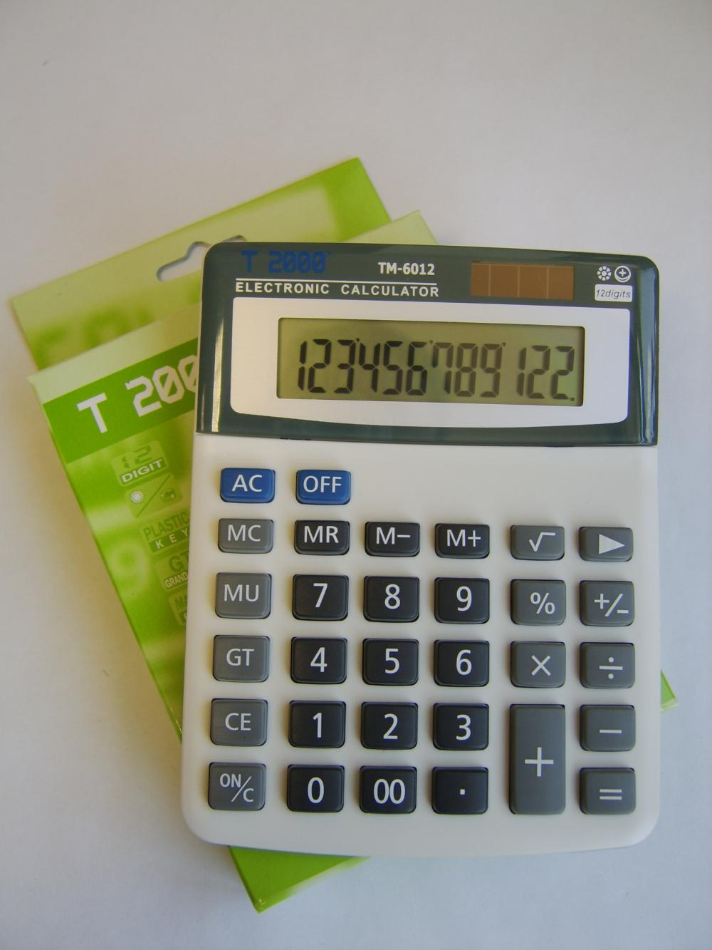 CALCULATOR 12 DIG. GRI TM6012