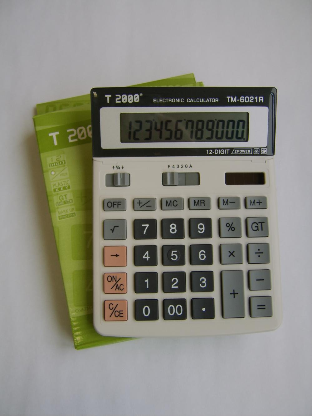 CALCULATOR 12 DIG. TM6021R