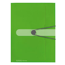 Mapa PP EO A4 cu elastic,30mm,verde opac