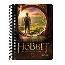 Caiet cu spira 10x14 cm ,200 file,The Hobbit motive asortate