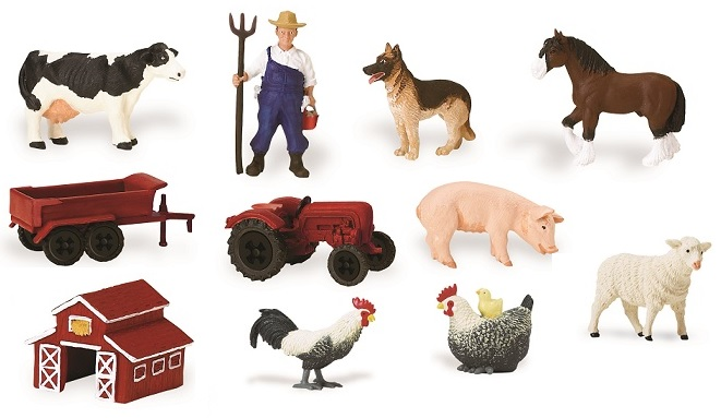 Figurine viata la ferma colectabile