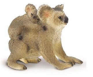 Figurina Safari, koala cu pui