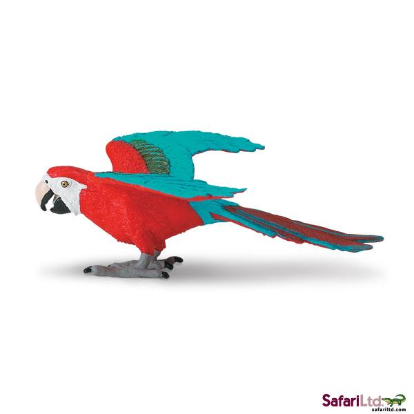 Figurina Safari, papagal cu aripi verzi