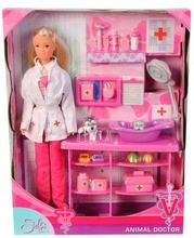 Papusa Steffi Medic veterinar cu acces.