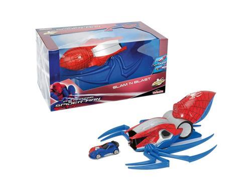 Spiderman Super lansator cu masinuta