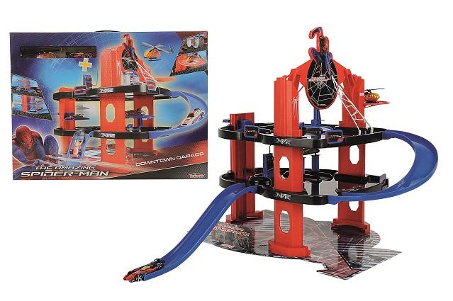 Spiderman Garaj cu elicopter