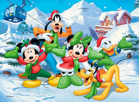 Puzzle Mickey si prietenii in zapada\