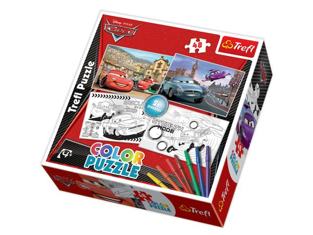 Puzzle Cars de colorat, 2 imagini