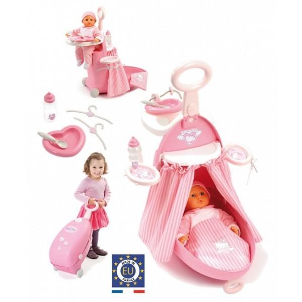 Smoby Hello Kitty troler,papusa,accesorii