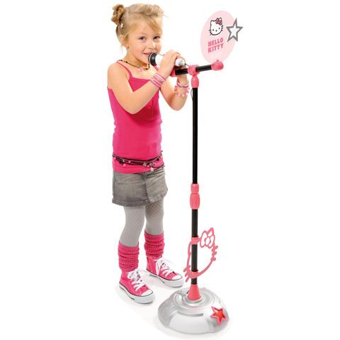 Set Hello Kitty microfon cu stativ