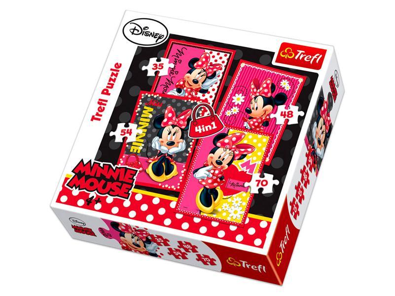Puzzle 4 in 1 Minnie