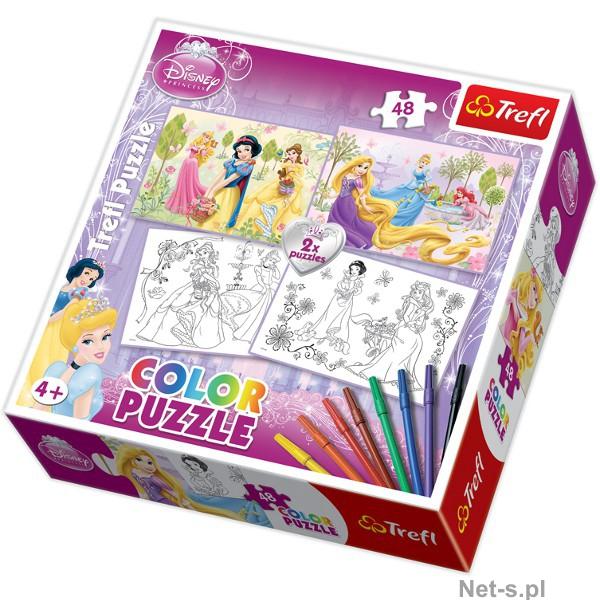 Puzzle Princess de colorat, 2 imagini