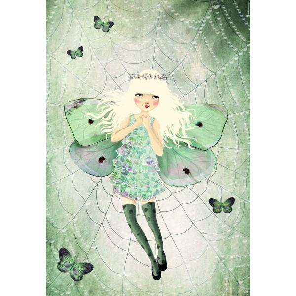 Caiet A5 cusut  Miss Butterfly