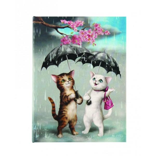 Carnet cu oglinda Raining Cats