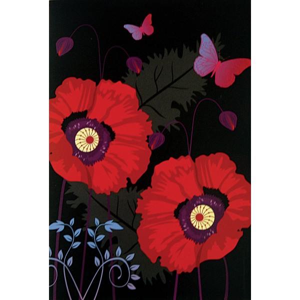 Caiet A5 cusut Poppies