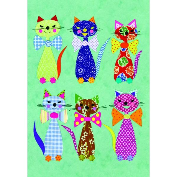 Caiet A5 cusut Patchwork Cats