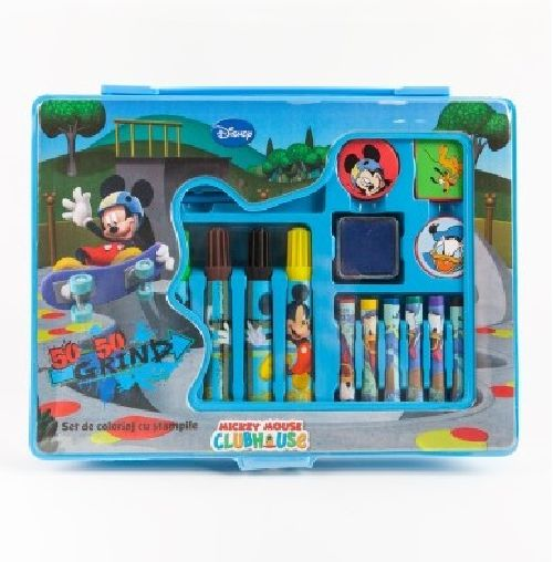 Set coloriaj cu stampile Mickey