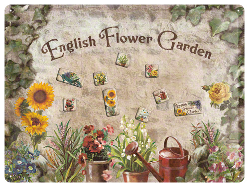 PLACA MAGNETICA 30X40 ENGLISH FLOWER GARDEN