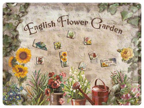 PLACA MAGNETICA 30X40 ENGLISH FLOWER GARDEN