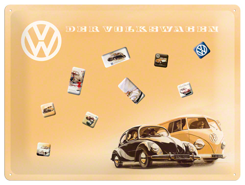 PLACA MAGNETICA 30x40  VW KAFER&BULLY