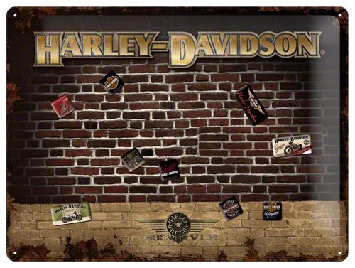 PLACA MAGNETICA 30x40  HARLEY-DAVIDSON B
