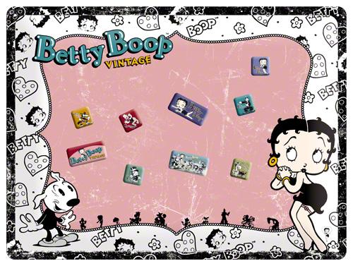 PLACA MAGNETICA 30x40  BETTY BOOP VINTAG