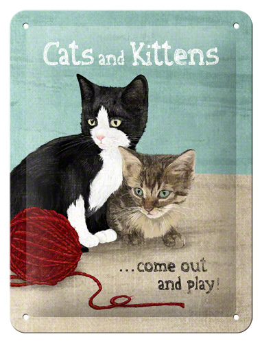 Placa 15x20 Cats and Kittens