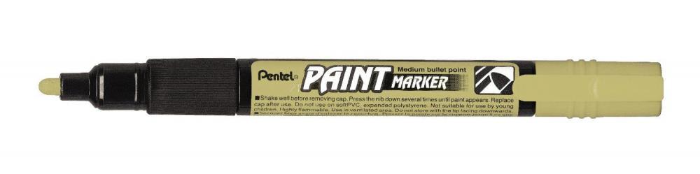 Marker perm. Pentel pe baza de vopsea,4mm,auriu