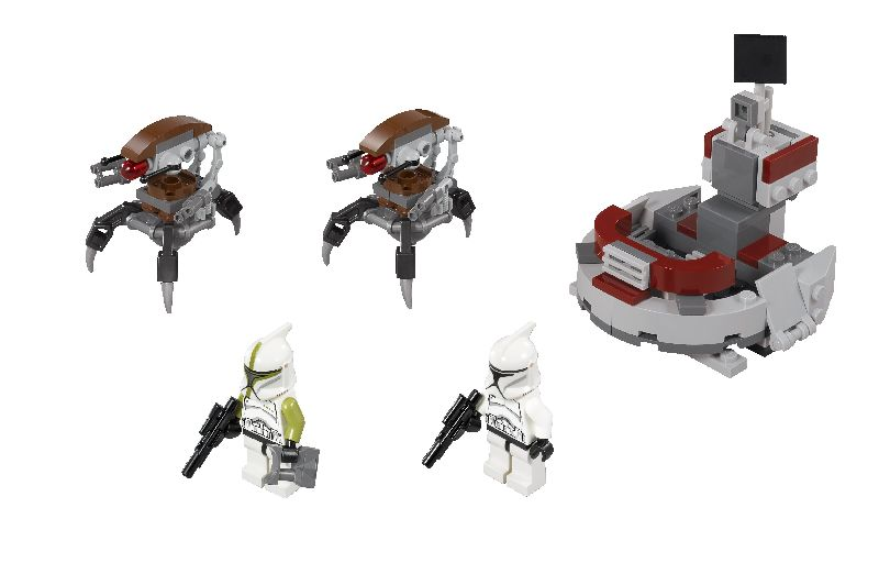 Lego Star Wars Clone Trooper vs. Droidekas