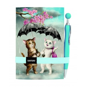Carnet cu pix - Raining Cats