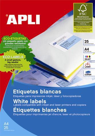 Etichete Apli INK/LA S/COP,105x37mm,400bu