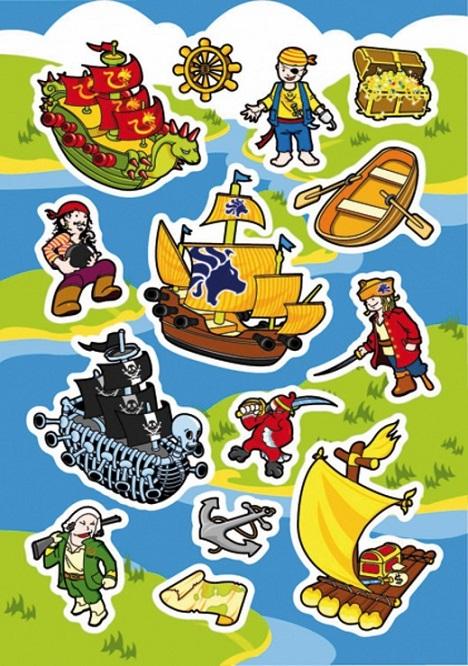 zzSticker Magic Pop-up, Pirati si corabii
