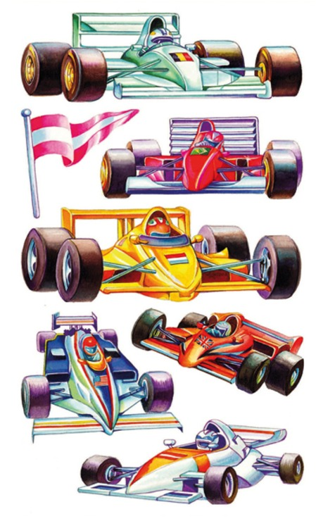 zzSticker Magic Masini colorate Formula 1