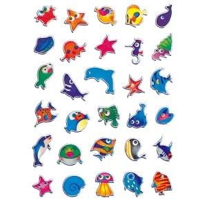 zzSticker Magic Animale marine colorate