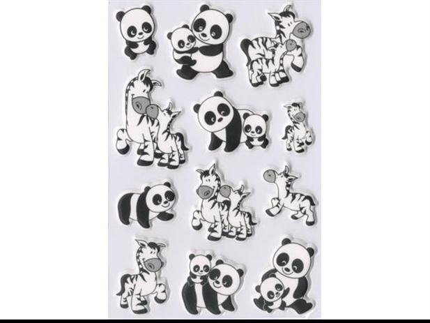 zzSticker Magic Ursi panda si zebre