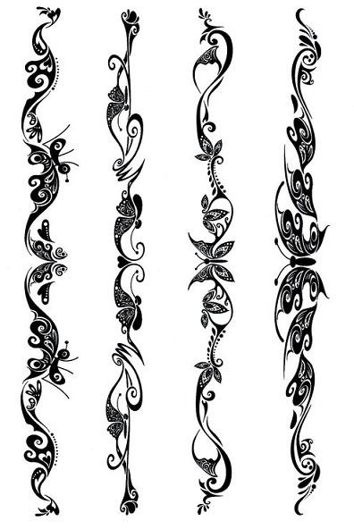 zzTatuaj Black Art Motive tribale, model 1