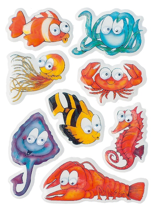 zzSticker Magic Animale marine cu ochi miscatori
