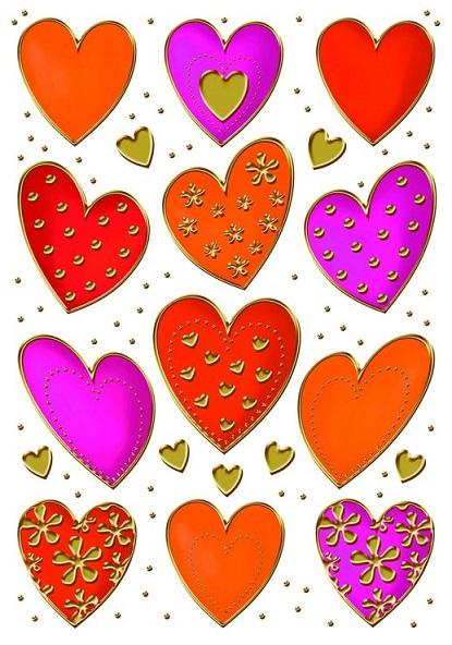 zzSticker Decor Inimioare colorate