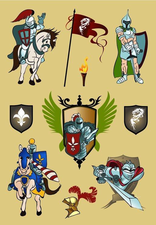 zzSticker Decor Cavaleri si armuri