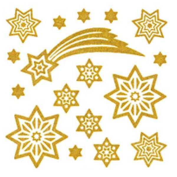 zzSticker pentru geam  stele aurii stilizate