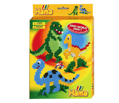 zzMargele Hama Midi 2000 buc., dinozauri