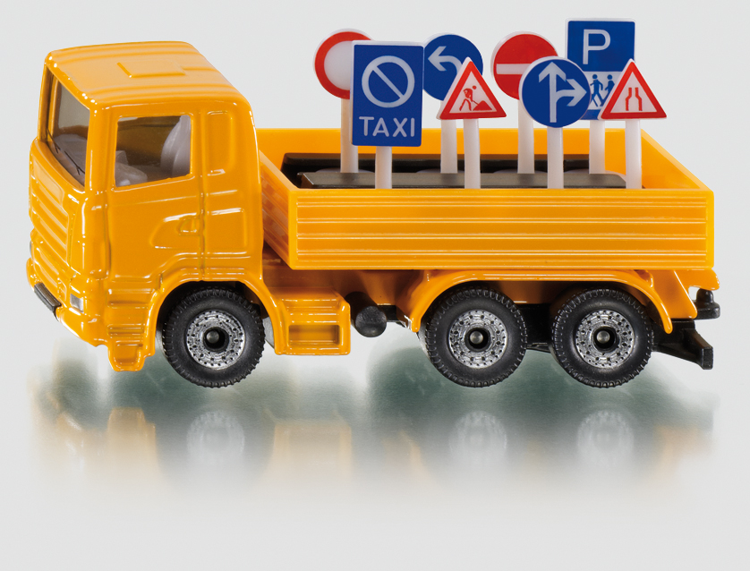 Siku Camion cu semne de circulatie