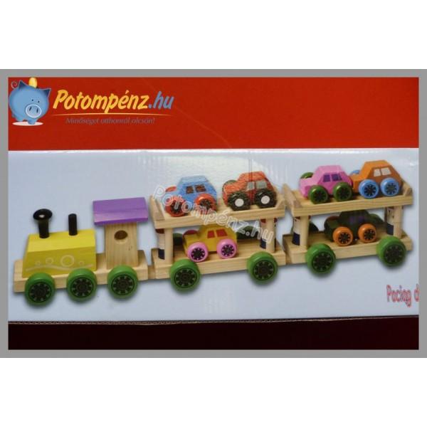 Trenulet cu 2 vagoane si masinute